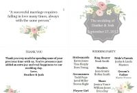 Free Wedding Program Templates You Can Customize Within Wedding Agenda Template