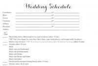 Free Wedding Timeline  Monzaberglaufverband in Wedding Agenda Templates