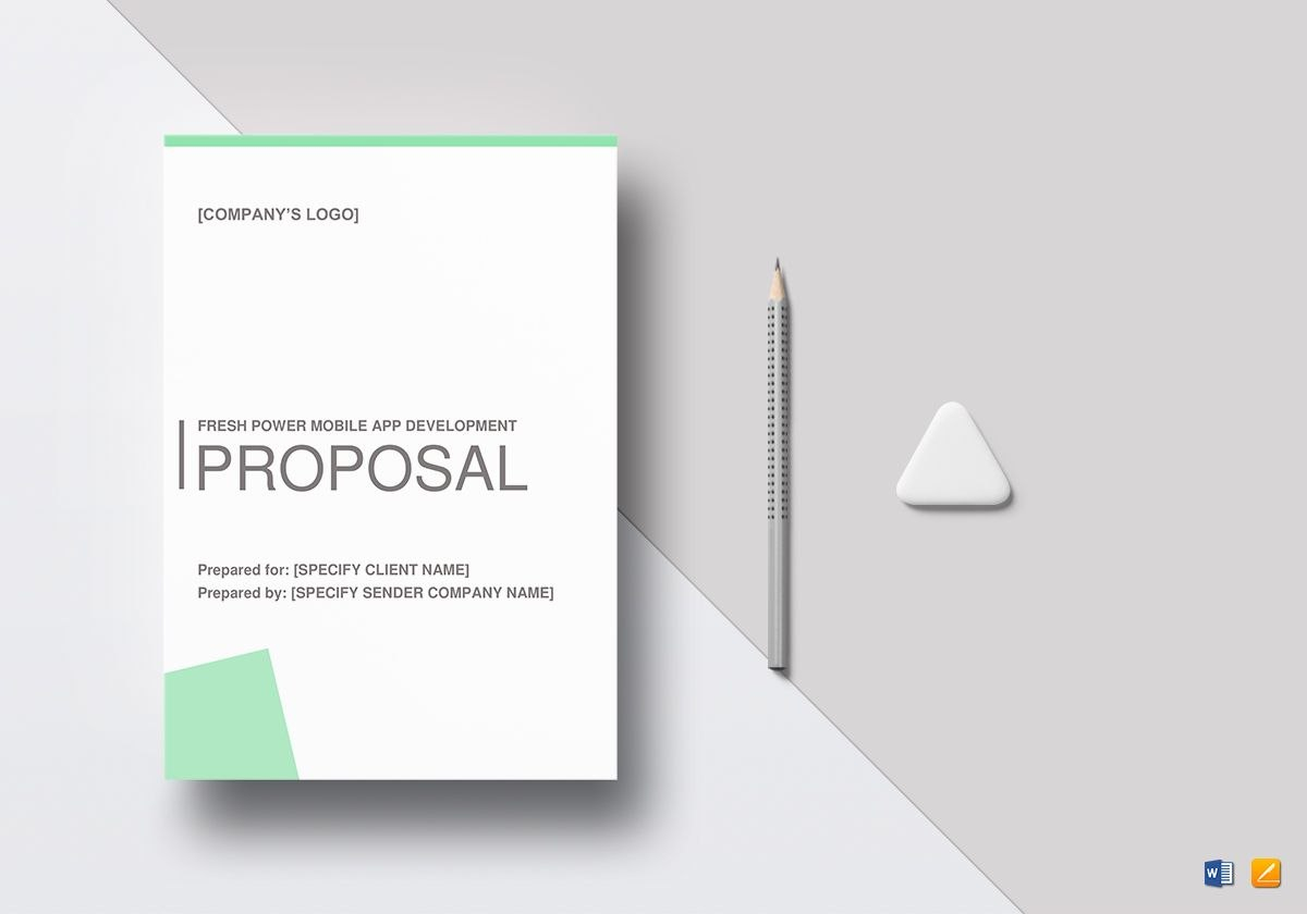 Freshpower Mobile App Proposal Template With Regard To App Proposal Template
