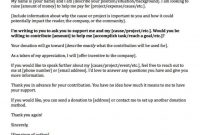 Fundraising Made Effortless With  Donation Request Letters for Letter Template For Donations Request