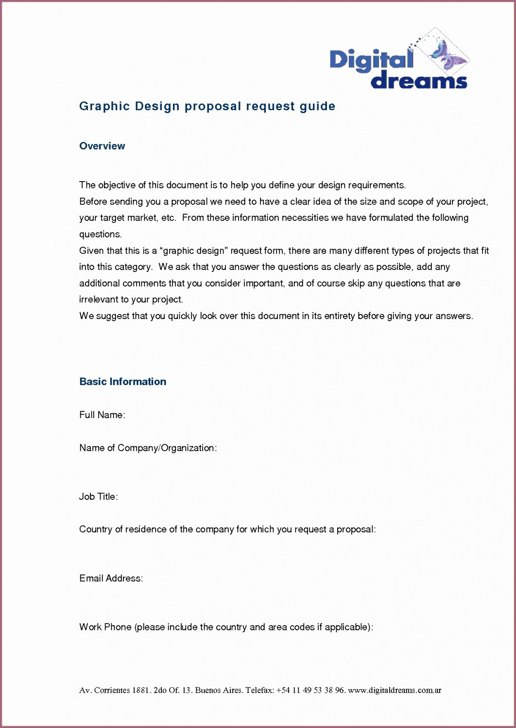 Graphic Design Proposal   Template Format within Graphic Design Proposal Template