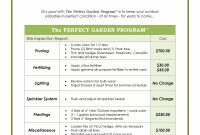Grounds Maintenance Proposal Template with regard to Landscape Proposal Template