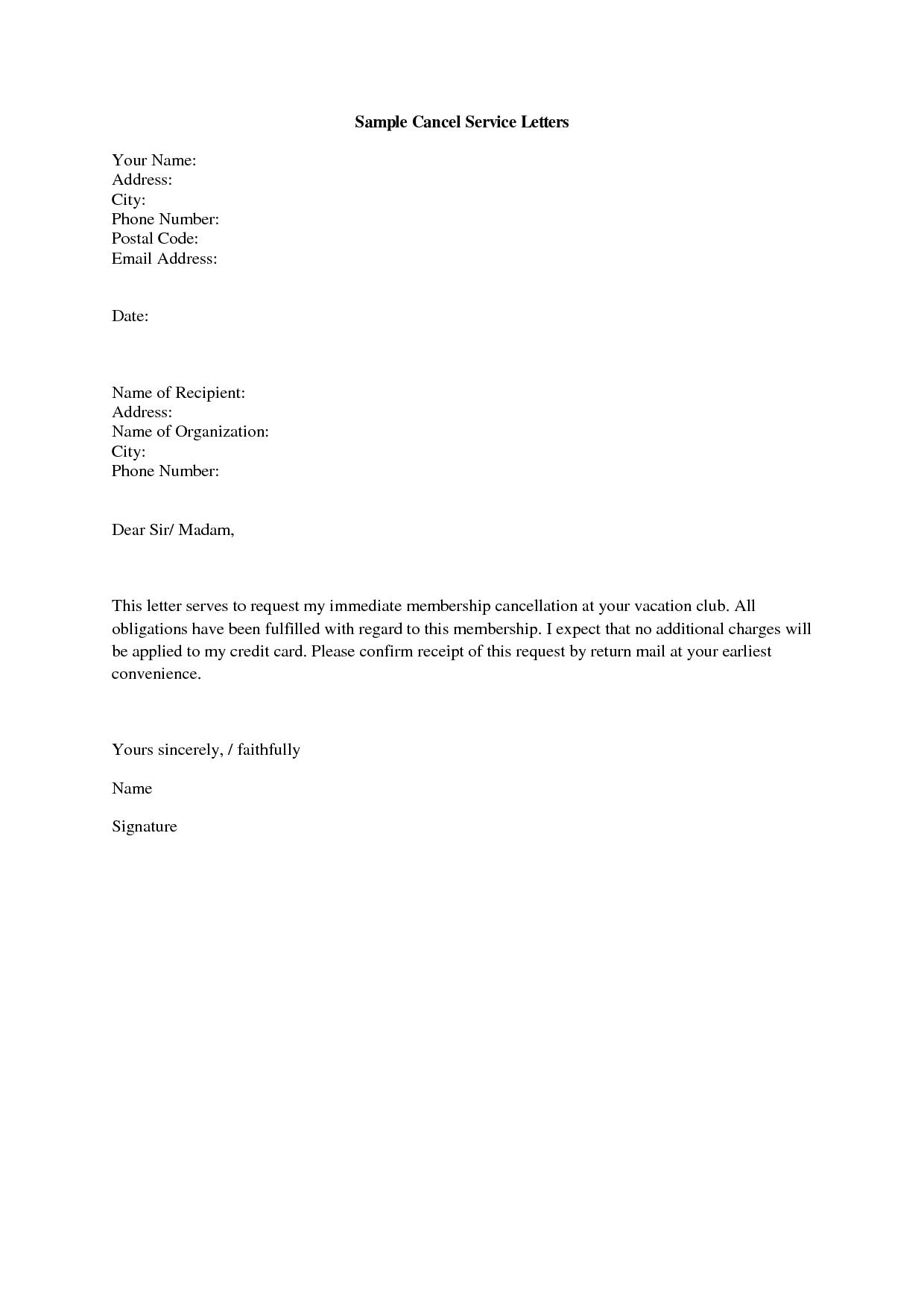 Gym Cancellation Letter  Gplusnick Throughout Gym Membership Cancellation Letter Template Free