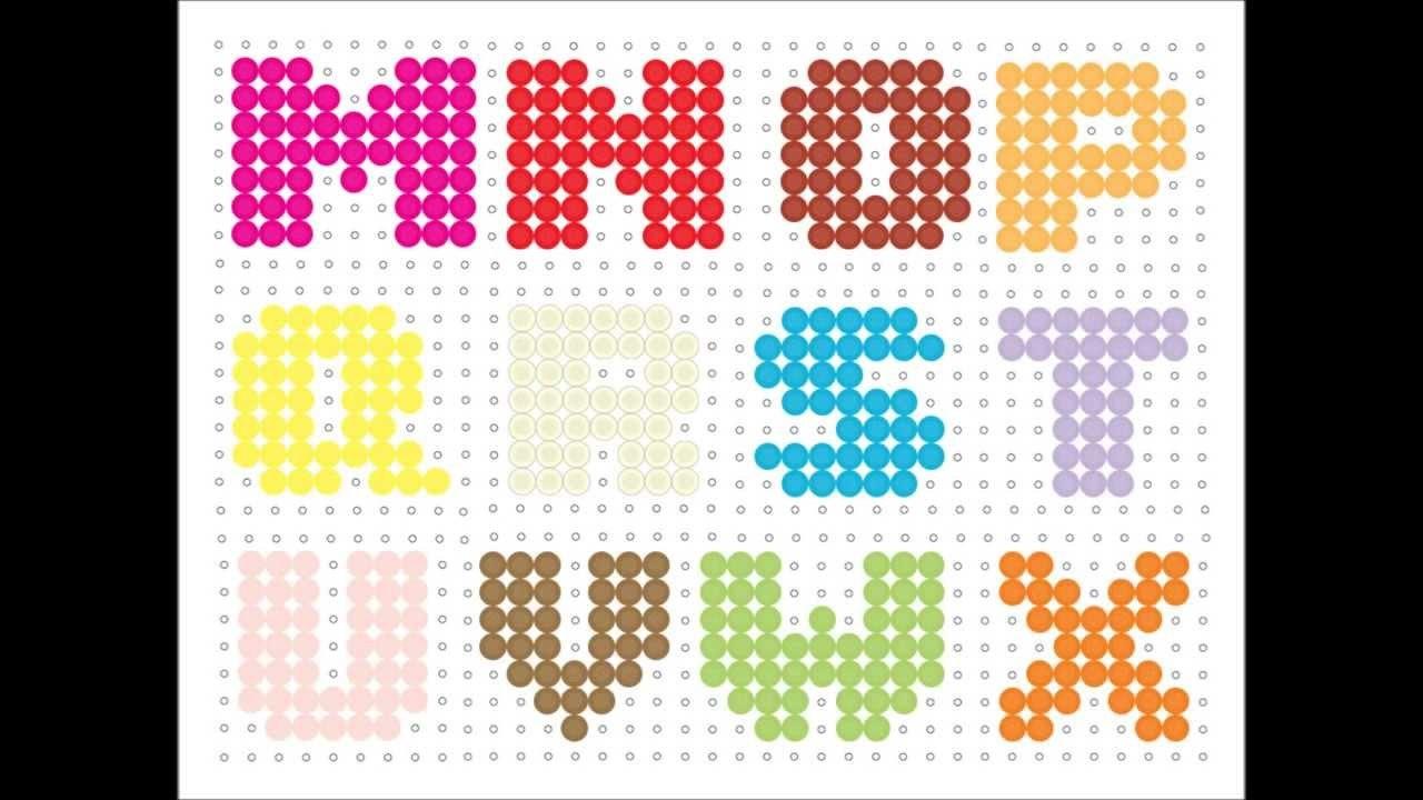 Hama Bead Alphabet  Youtube Pertaining To Hama Bead Letter Templates