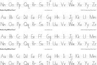Handwriting Without Tears Print Alphabet Desk Sheets  Strips Per with Handwriting Without Tears Letter Templates