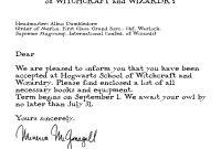 Harry Potter Hogwarts Acceptance Letter  Fandoms  Geschenkideen for Harry Potter Acceptance Letter Template