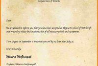 Harry Potter Hogwarts Acceptance Letter Template  Letter Flat inside Harry Potter Acceptance Letter Template