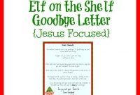 Helpful Elf On The Shelf Goodbye Letters regarding Elf On The Shelf Letter From Santa Template