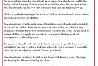Helping Parents Write Letters Of Reference For Their Nannies  Nanny for Supermarket Bag Packing Letter Template