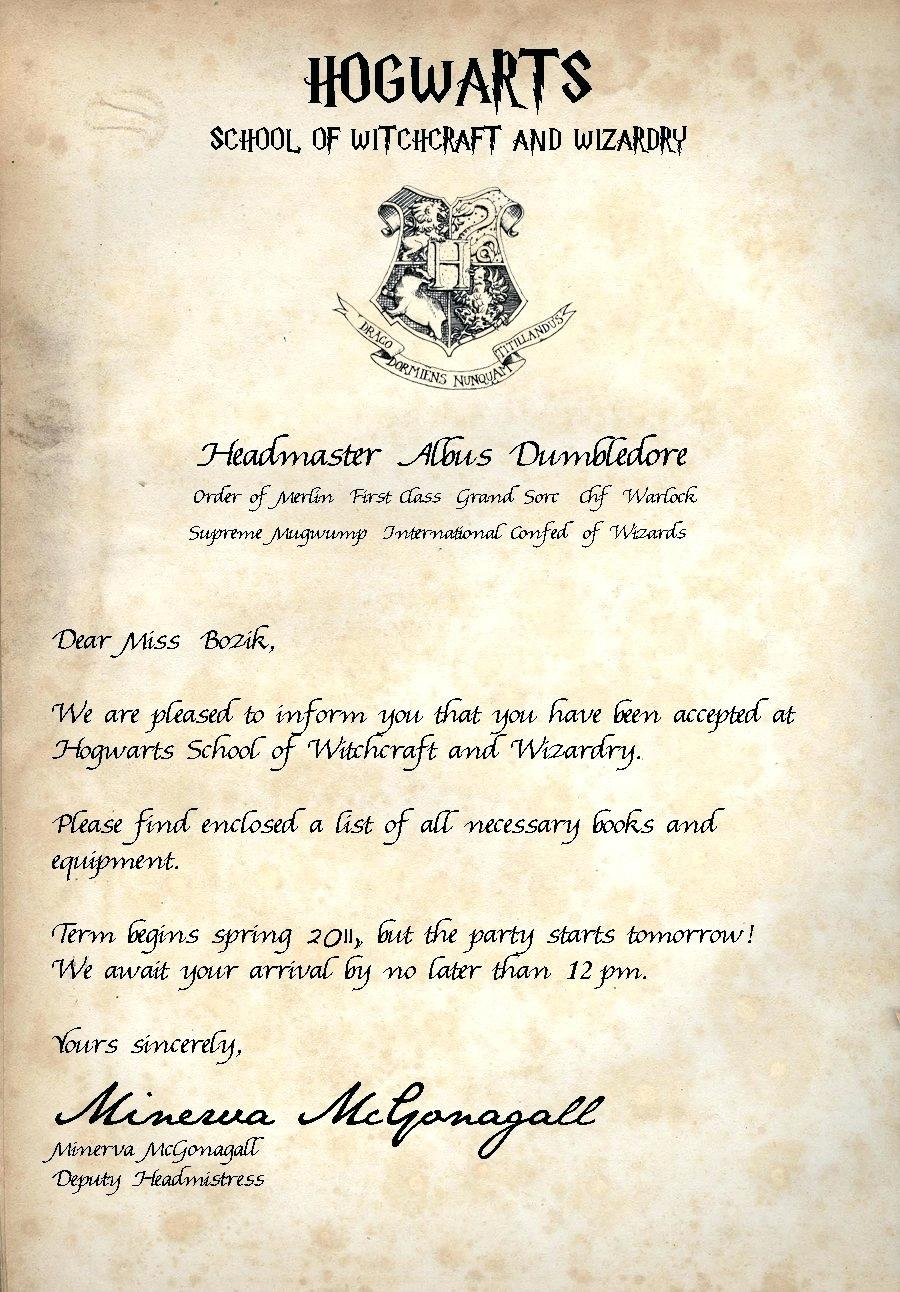 Hogwarts Acceptance Letter Generator  Contesting Wiki Within Harry Potter Acceptance Letter Template