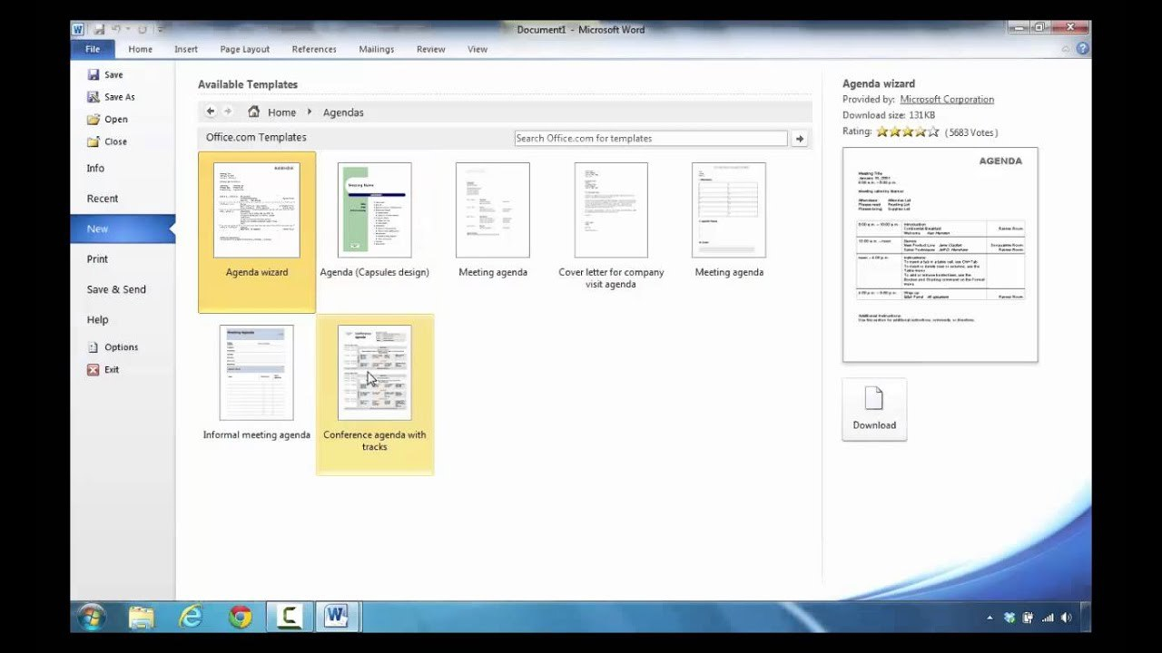 How To Create An Agenda In Microsoft Word In Microsoft Office Agenda Templates