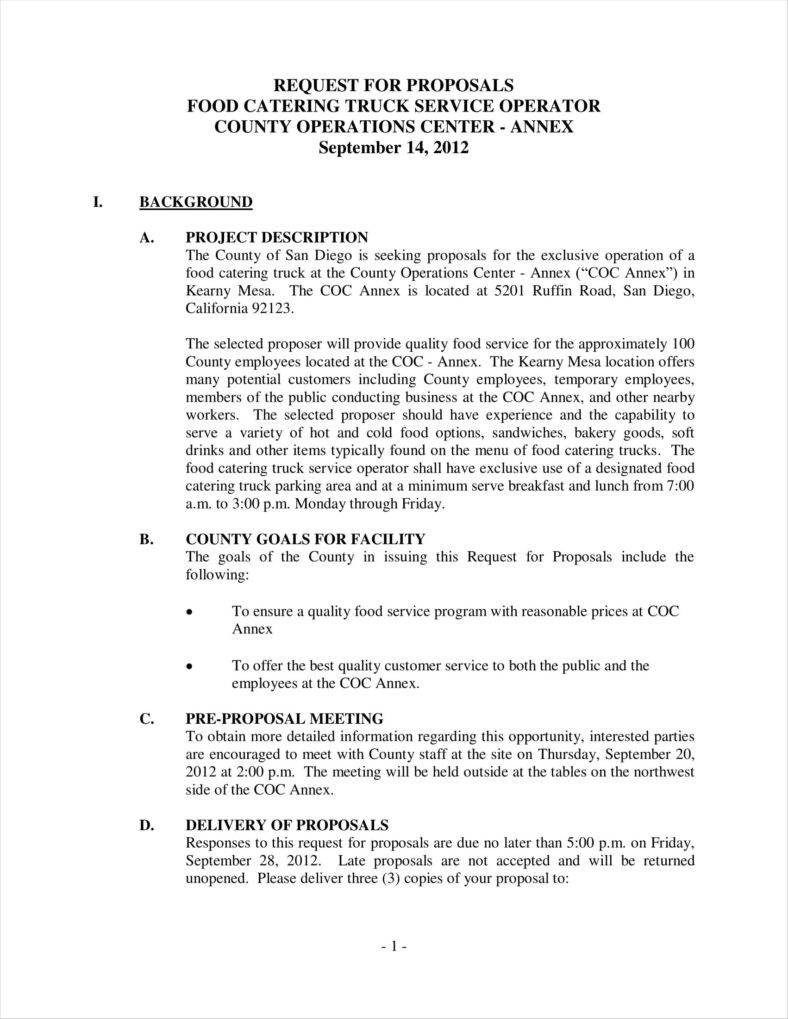 How To Write A Catering Proposal  Free Word Pdf Format Pertaining To Catering Proposal Template