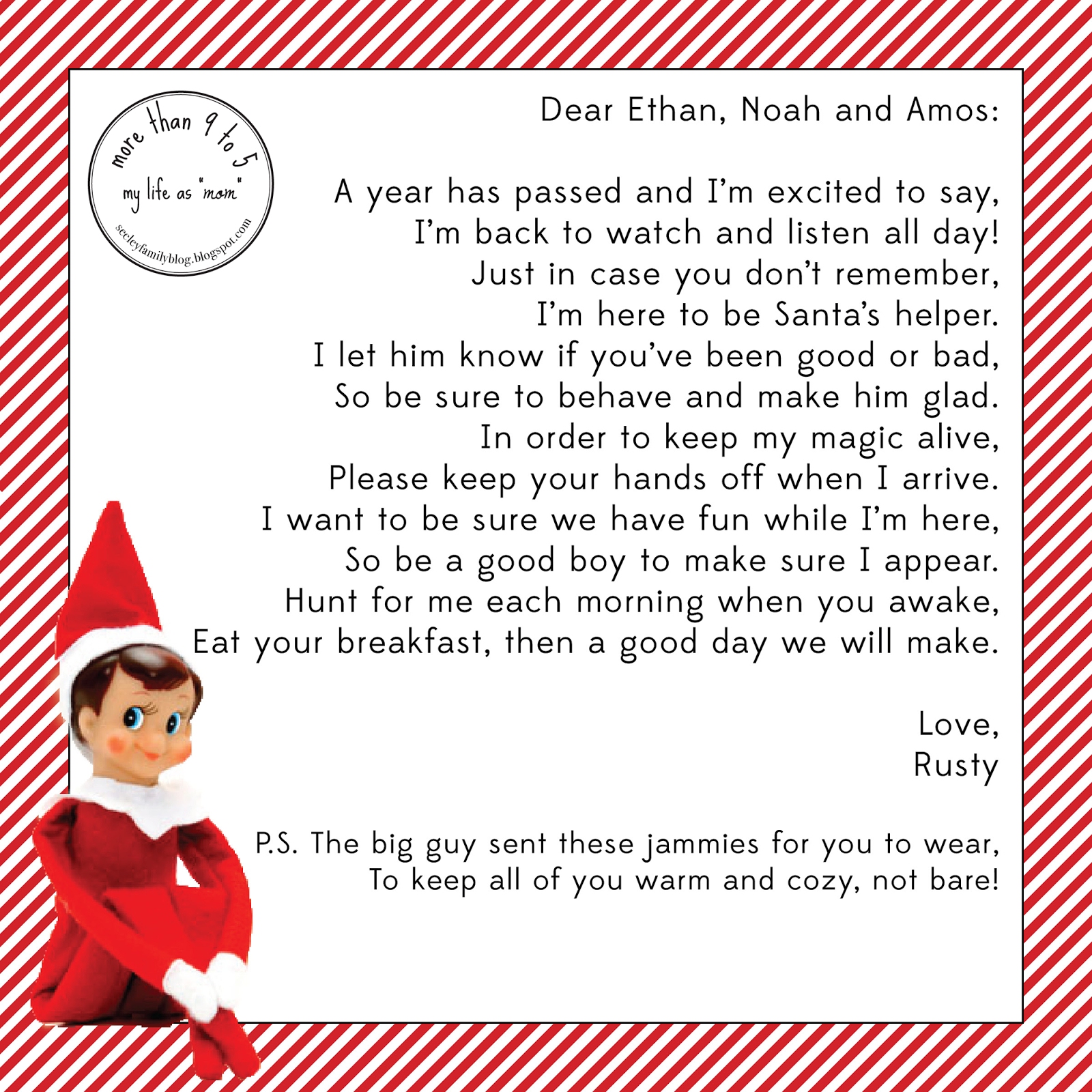 If You Need Help Getting Your Elf Organized This Year Please Check With Elf On The Shelf Arrival Letter Template