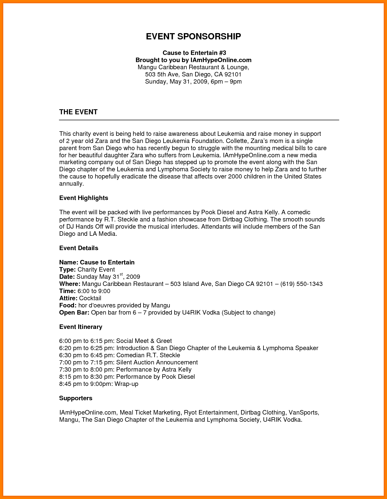 Image Result For Sponsorship Proposal Template  Denim  Diamonds Throughout Fundraiser Proposal Template