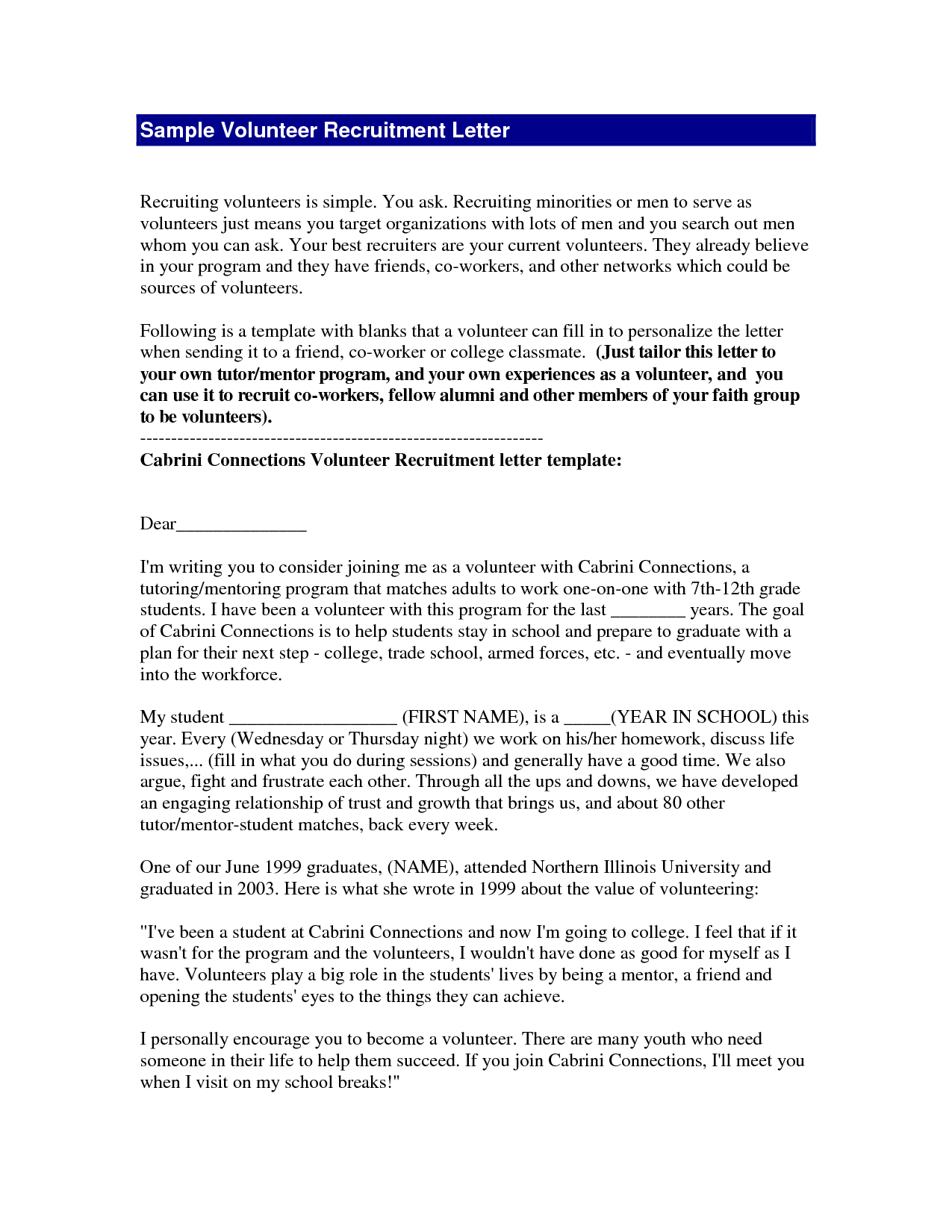 Images Of Catechist Volunteer Letter Template  Unemeuf Intended For Reference Letter Template For Volunteer