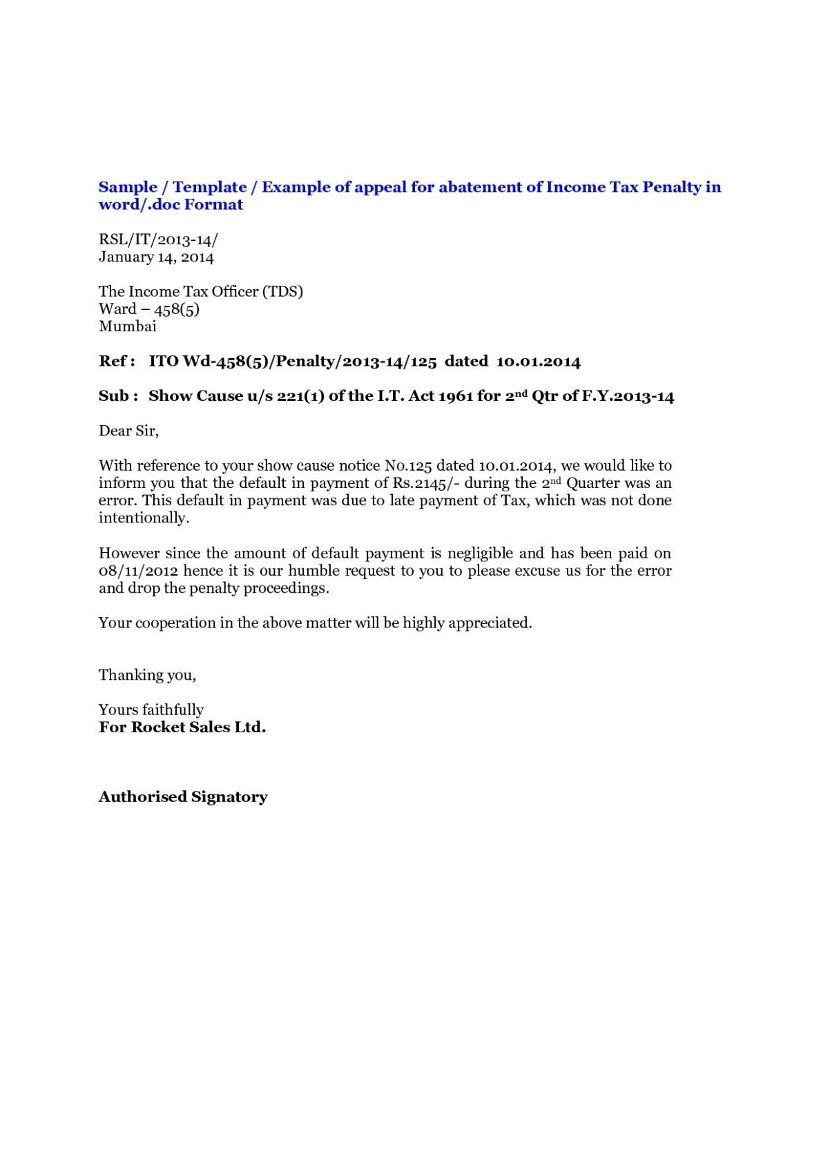 Income Tax Notice Sample New Sample Declaration Letter Archives Intended For Notice Of Default Letter Template