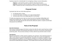 Informal Proposal Letter Example  Writing A Project Proposal A within Technical Proposal Template