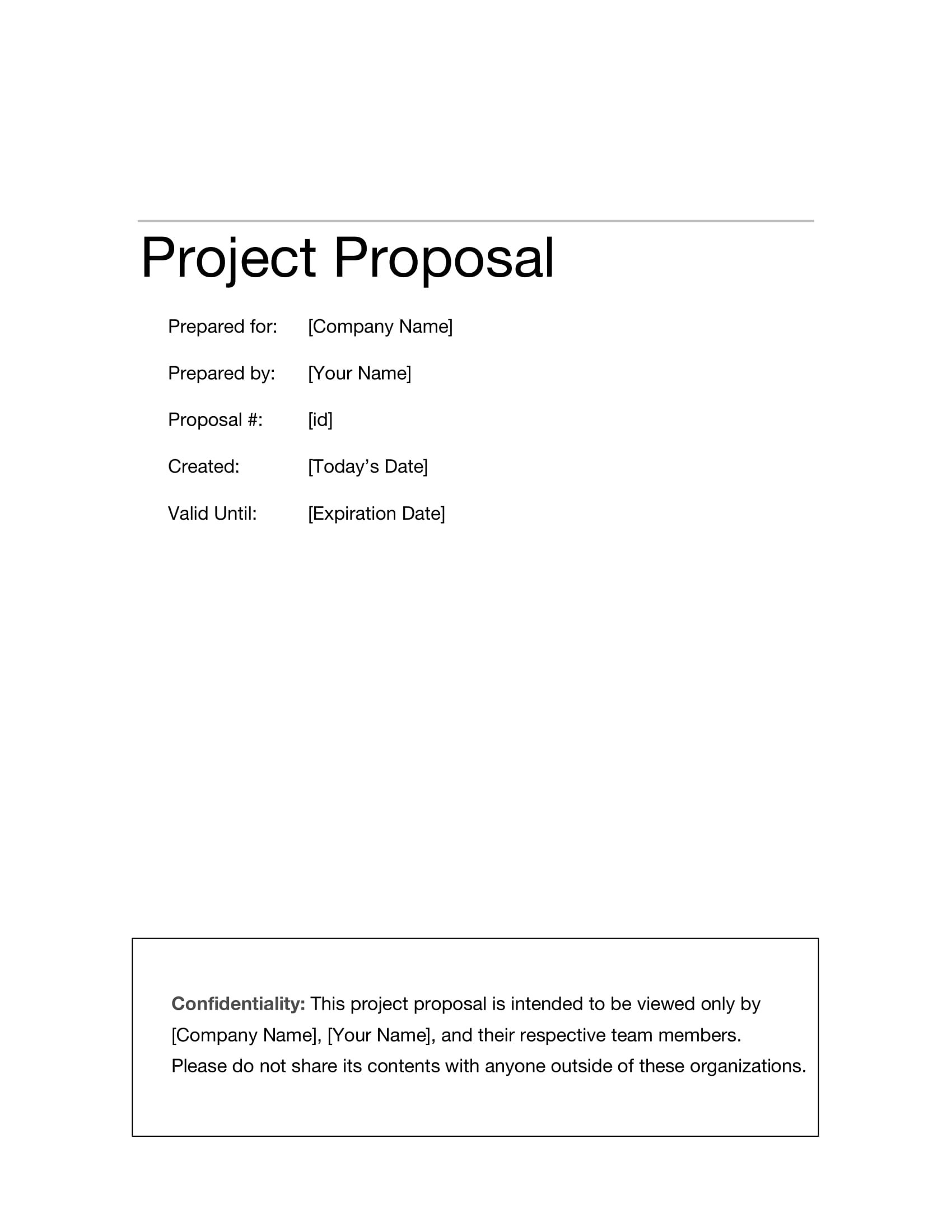 Information Technology Project Proposal Examples  Pdf Word With Regard To Technology Proposal Template