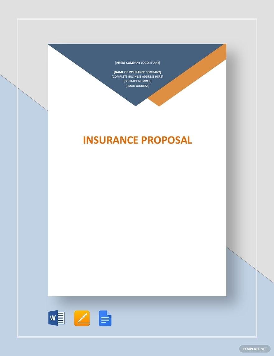 Insurance Proposal  Business Proposal Templates  Designs In Insurance Proposal Template