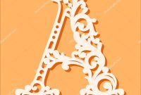 Laser Cut Template Initial Monogram Letters Fancy Floral Alphabet pertaining to Fancy Alphabet Letter Templates