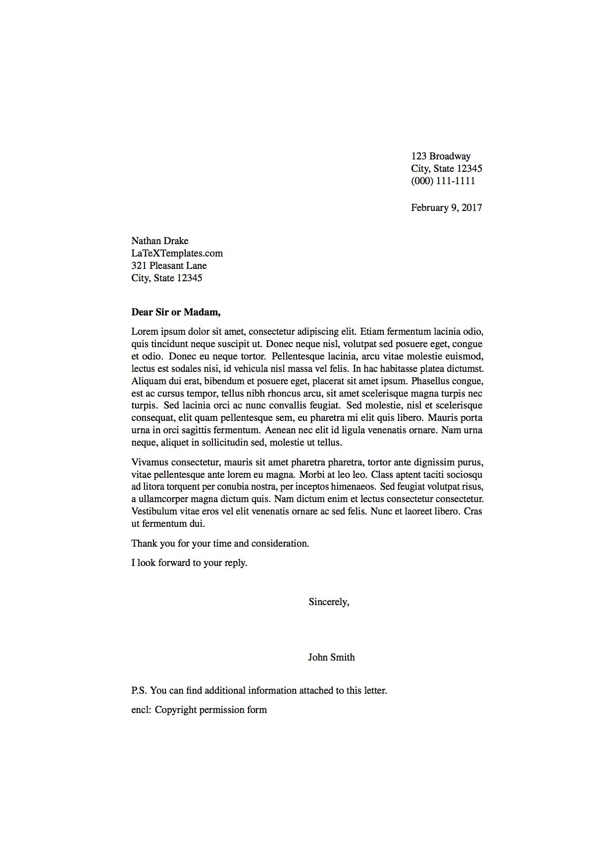 Latex Templates » Formal Letters In Notice Of Default Letter Template