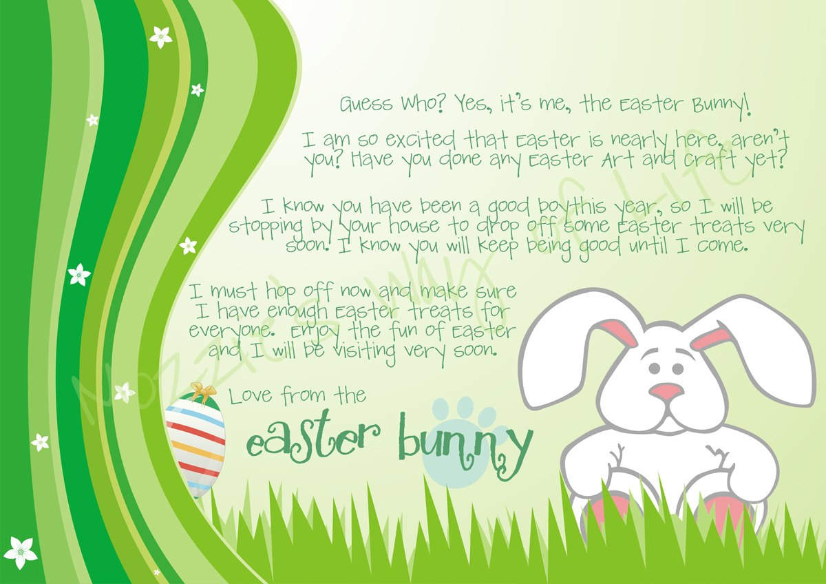 Letter From The Easter Bunny Templates – Hd Easter Images Within Letter To Easter Bunny Template