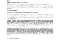 Letter Of Counseling And Coachingtemplate  Ewu intended for Letter Of Counseling Template