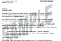 Letter Of Credit Sample   Cover Letter in Letter Of Credit Draft Template