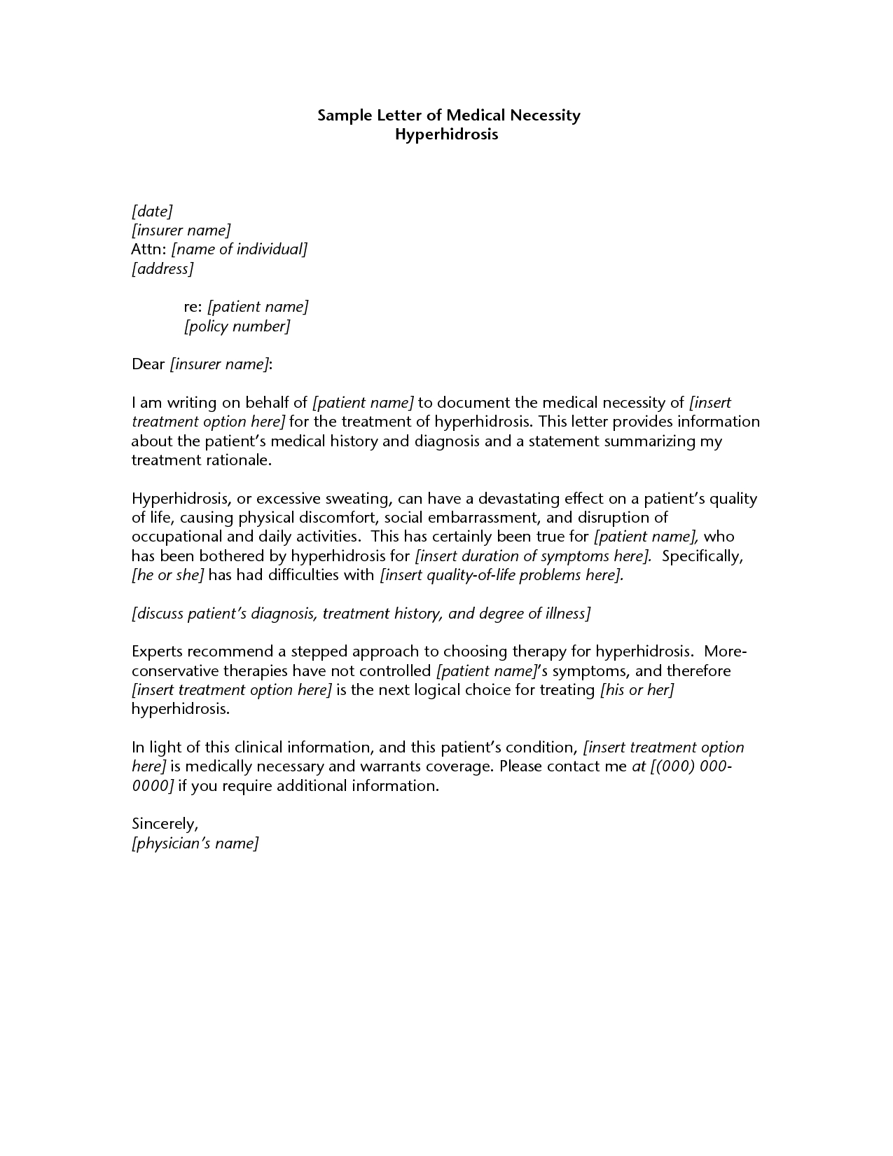 Letter Of Medical Necessity For Physical Therapy Template Samples With Regard To Letter Of Medical Necessity Template