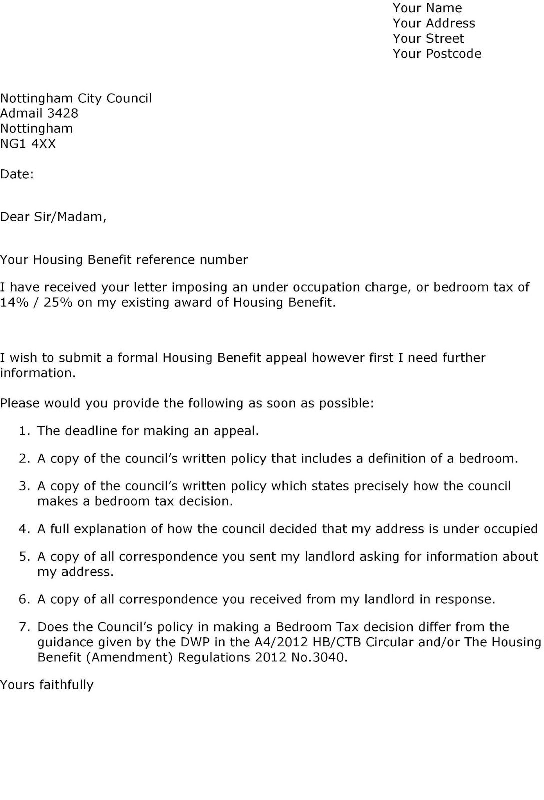 Letter To Councillor Template – Humman For Pre Action Protocol Letter Template