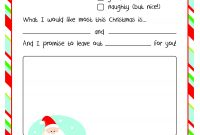 Letter To Santa – Free Printable intended for Free Letters From Santa Template