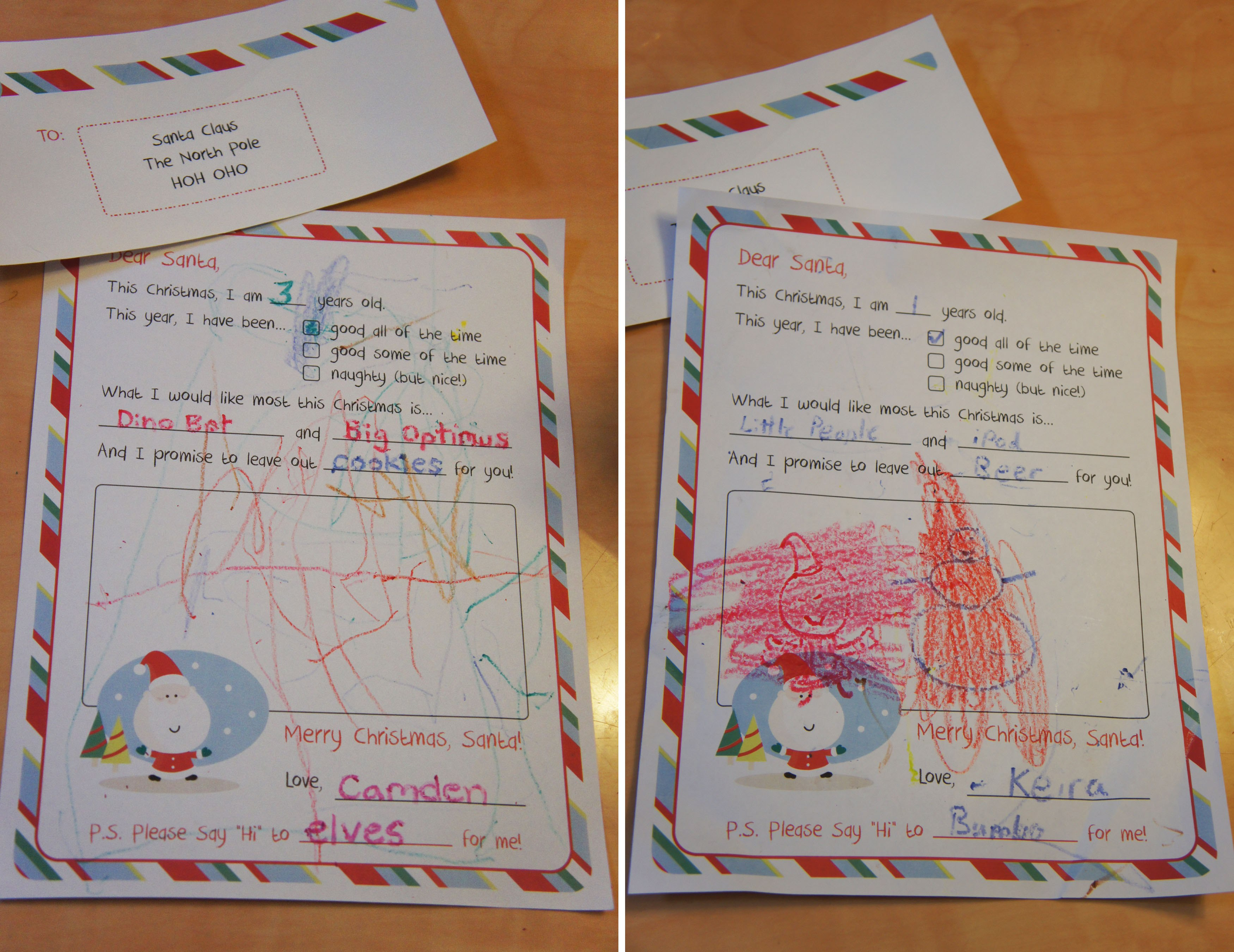 Letter To Santa – Free Printable Throughout Letter I Template For Preschool