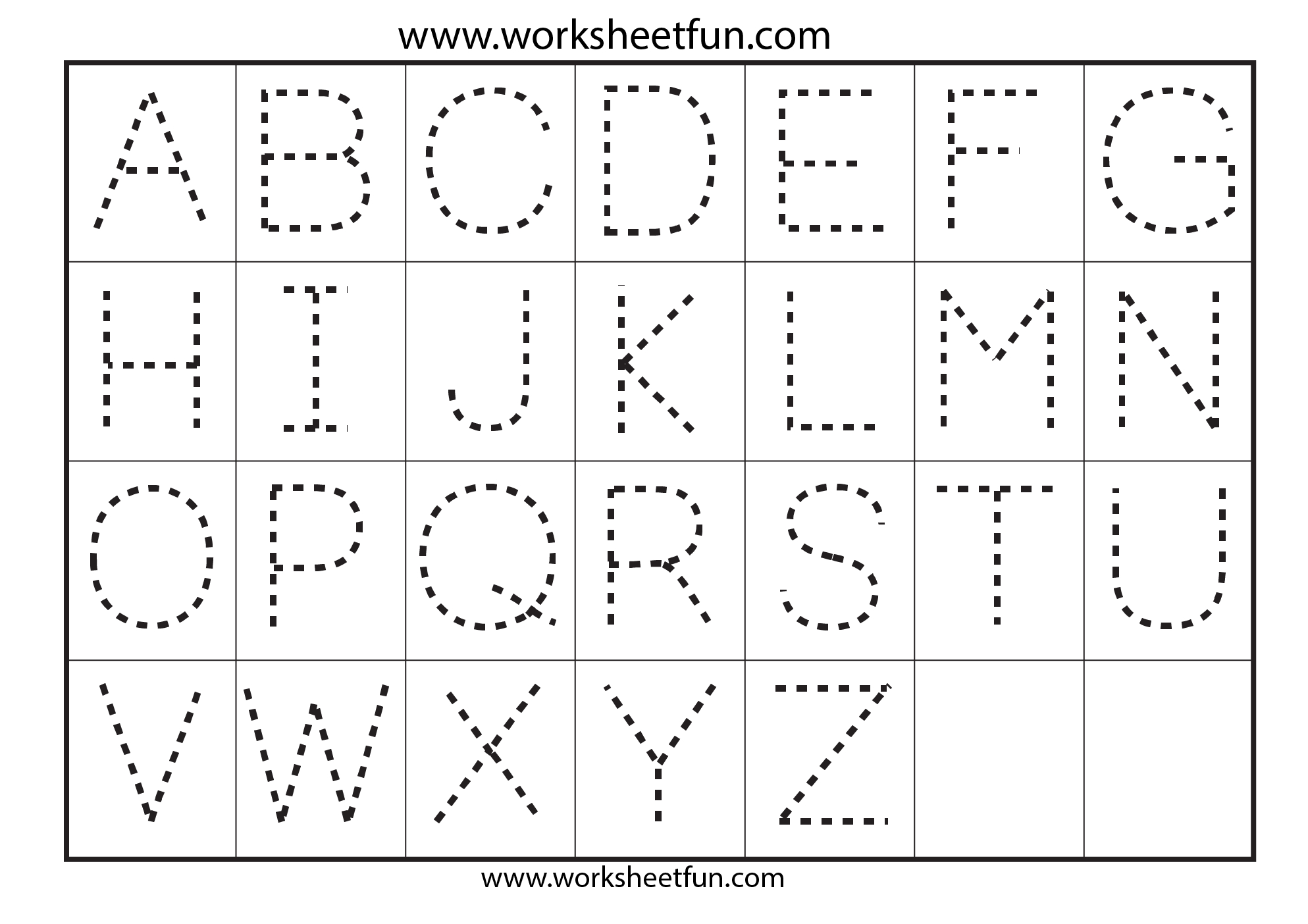 Letter Tracing Worksheets  Gplusnick With Regard To Tracing Letters Template