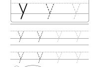 "Lowercase Letter ""y"" Tracing Worksheet  Doozy Moo within Tracing Letters Template"