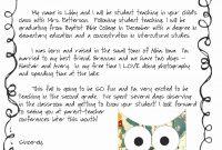 Meet The Teacher Letter Template  Resume Letter with Meet The Teacher Letter Template