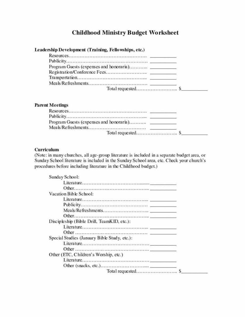 Ministry Budget Template Plan Templates Microsoft Excel Church Intended For Ministry Proposal Template