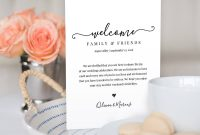 Modern Calligraphy Welcome Bag Letter Template   Editable throughout Welcome Bag Letter Template