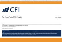 Net Present Value Npv Excel Template  Cfi Marketplace intended for Net Present Value Excel Template