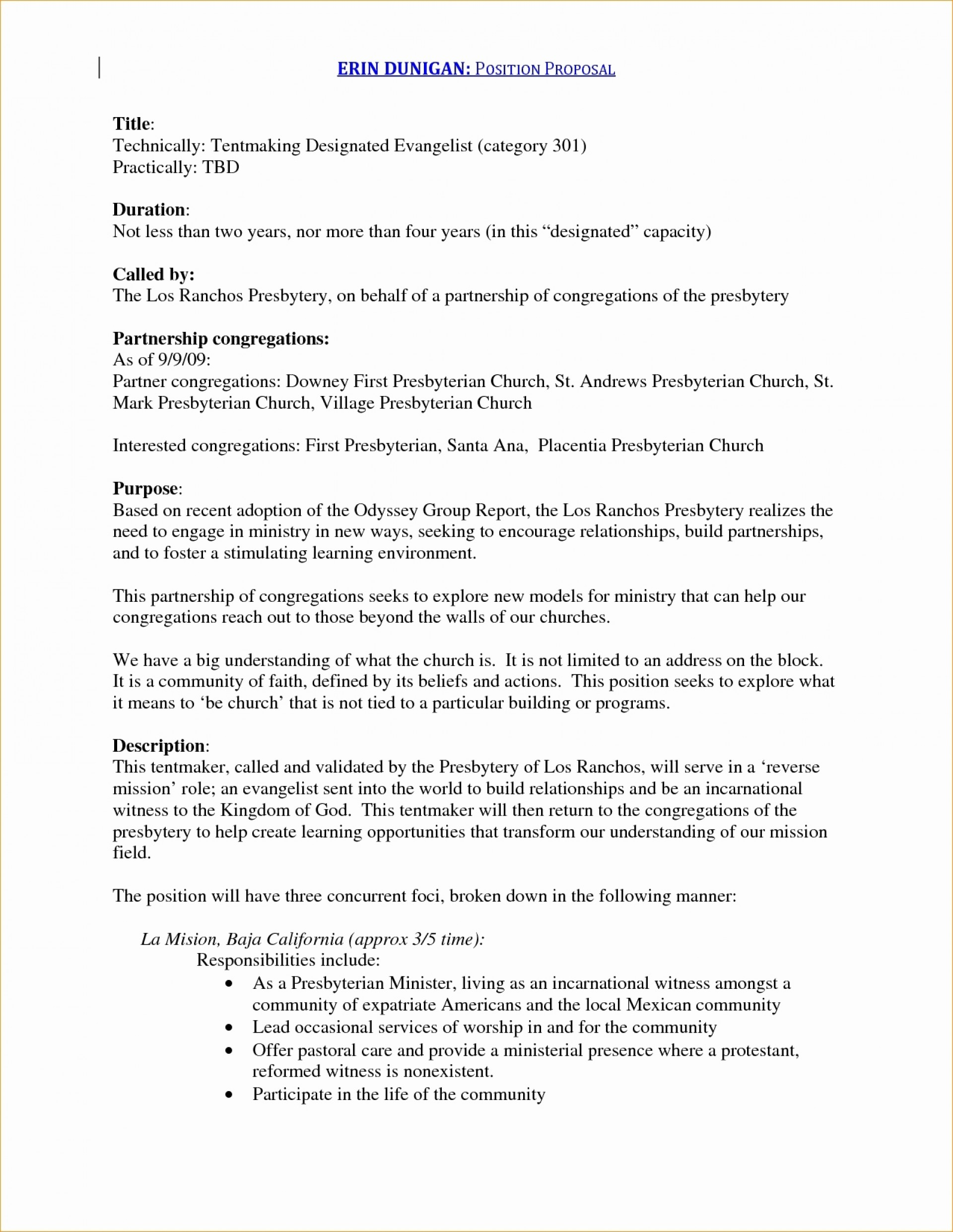 New Position Proposal Template Advertising Lovely Unique Within Ministry Proposal Template