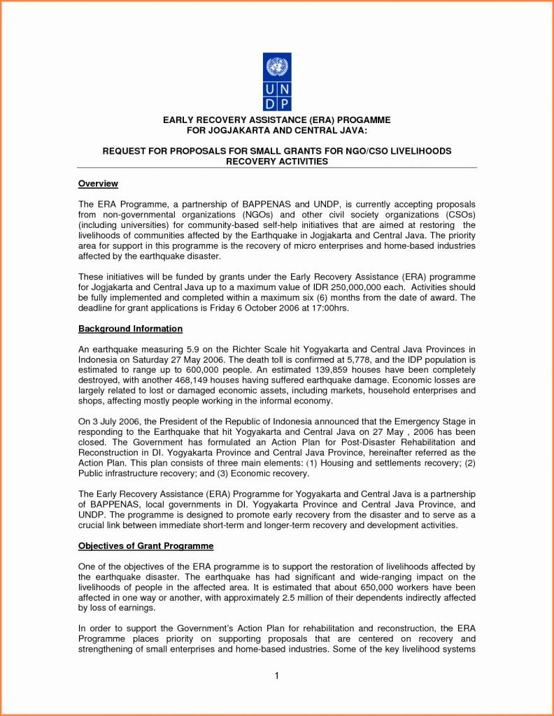 Ngo Funding Proposal Template  Mandanlibrary For Funding Proposal Template