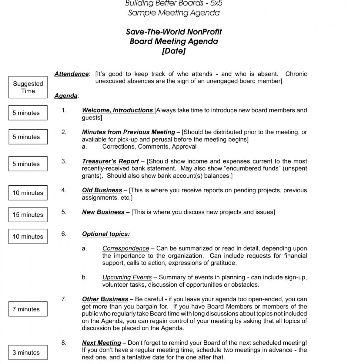 Nonprofit Board Meeting Agenda Template  Cpo Board Meeting Within Non Profit Board Meeting Agenda Template