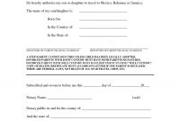 Notarized Letter To Travel With Child Mexico Template inside Notarized Letter Template For Child Travel