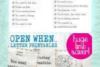 Open When Letter Templates  Sansurabionetassociats intended for Open When Letters Template