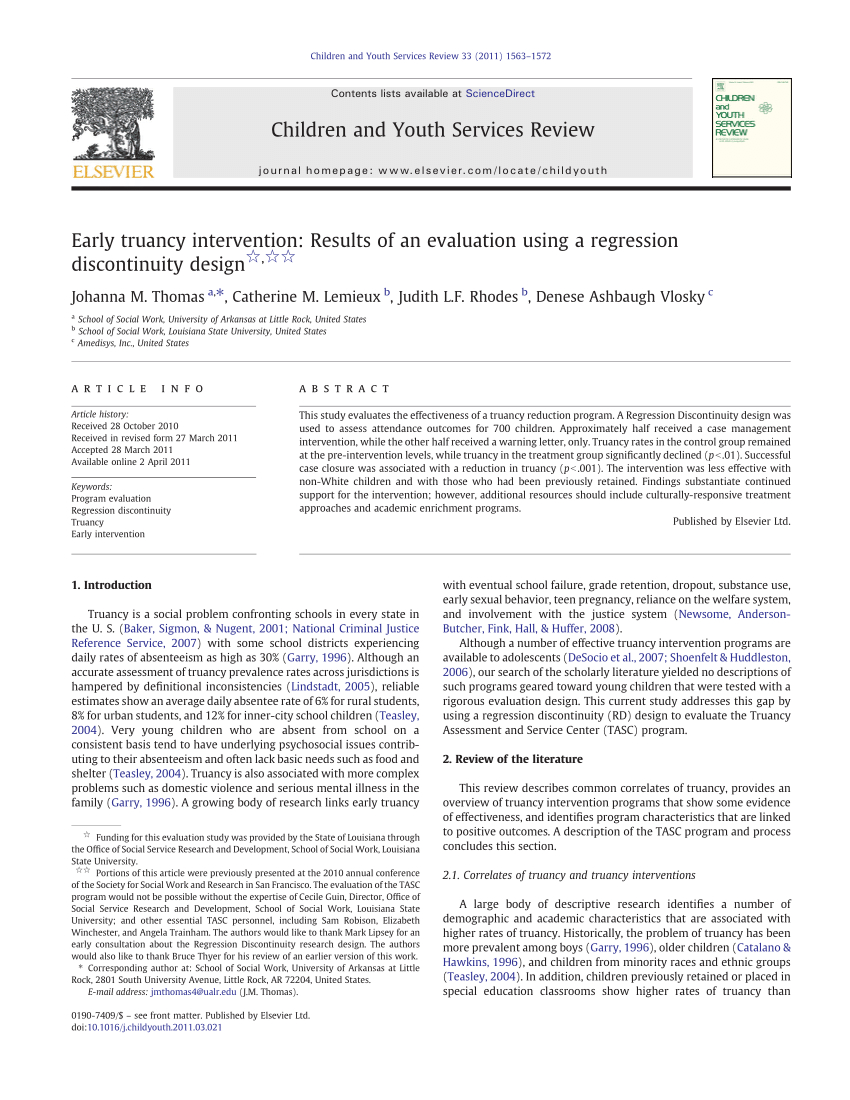 Pdf Truancy Assessment And Service Centers Tasc Engaging Intended For Truancy Letter Template