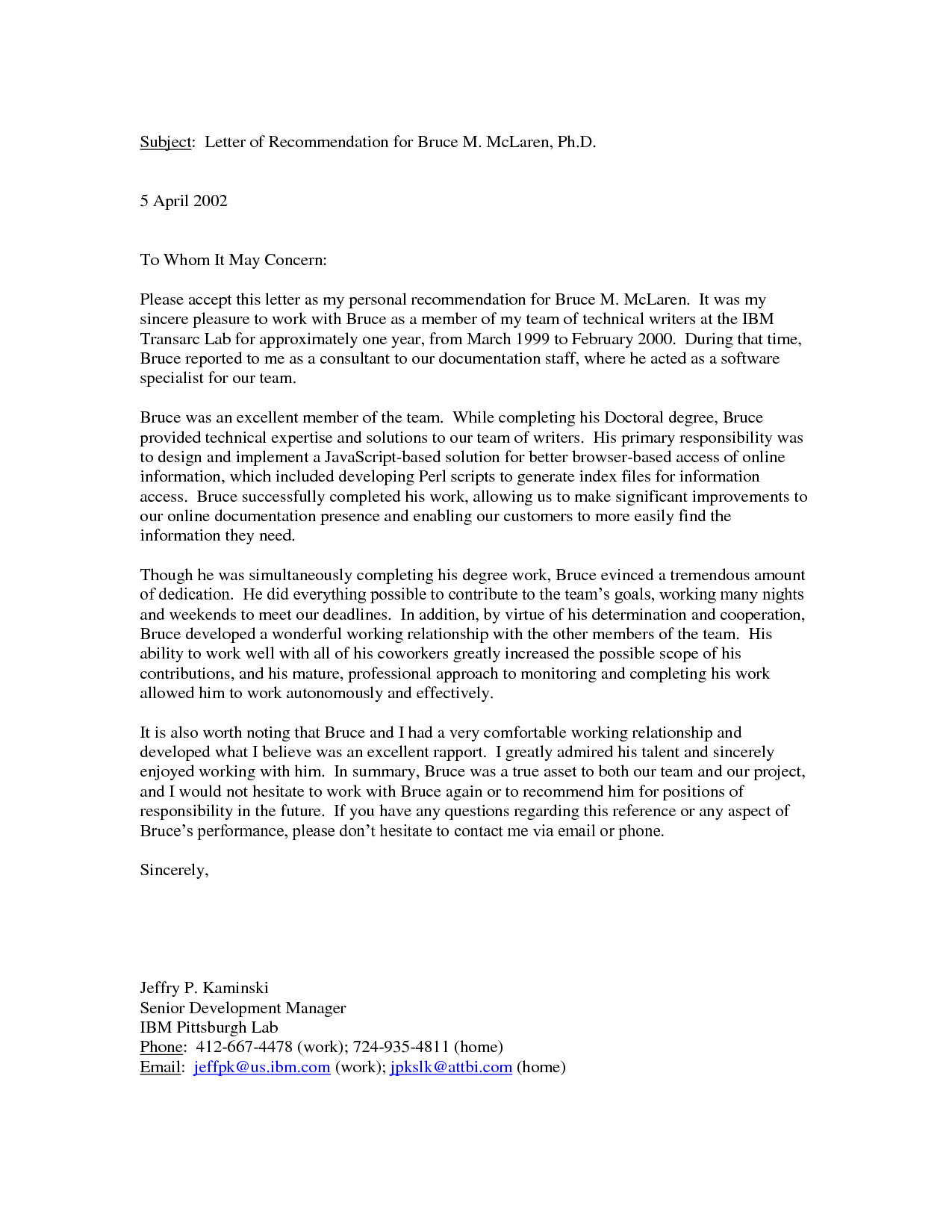 Personal Letters Of Recommendation Templates Template Ideas For Letter Of Rec Template