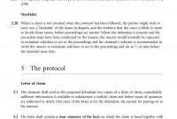 Preaction Protocol For Personal Injury Claims  Pdf for Pre Action Protocol Letter Template