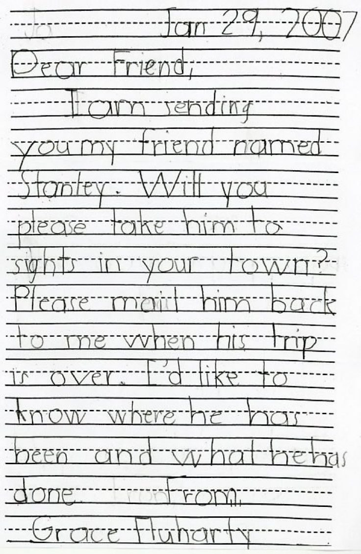 Precious Flat Stanley Return Letter Examples – Thefaultless Inside Flat Stanley Letter Template