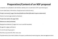 Preparationcontent Of An Nsf Proposal Nsf Proposals Are Uploaded To inside Nsf Proposal Template