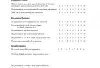 Presentation Evaluation Form   Free Templates In Pdf Word Excel inside Presentation Evaluation Form Templates