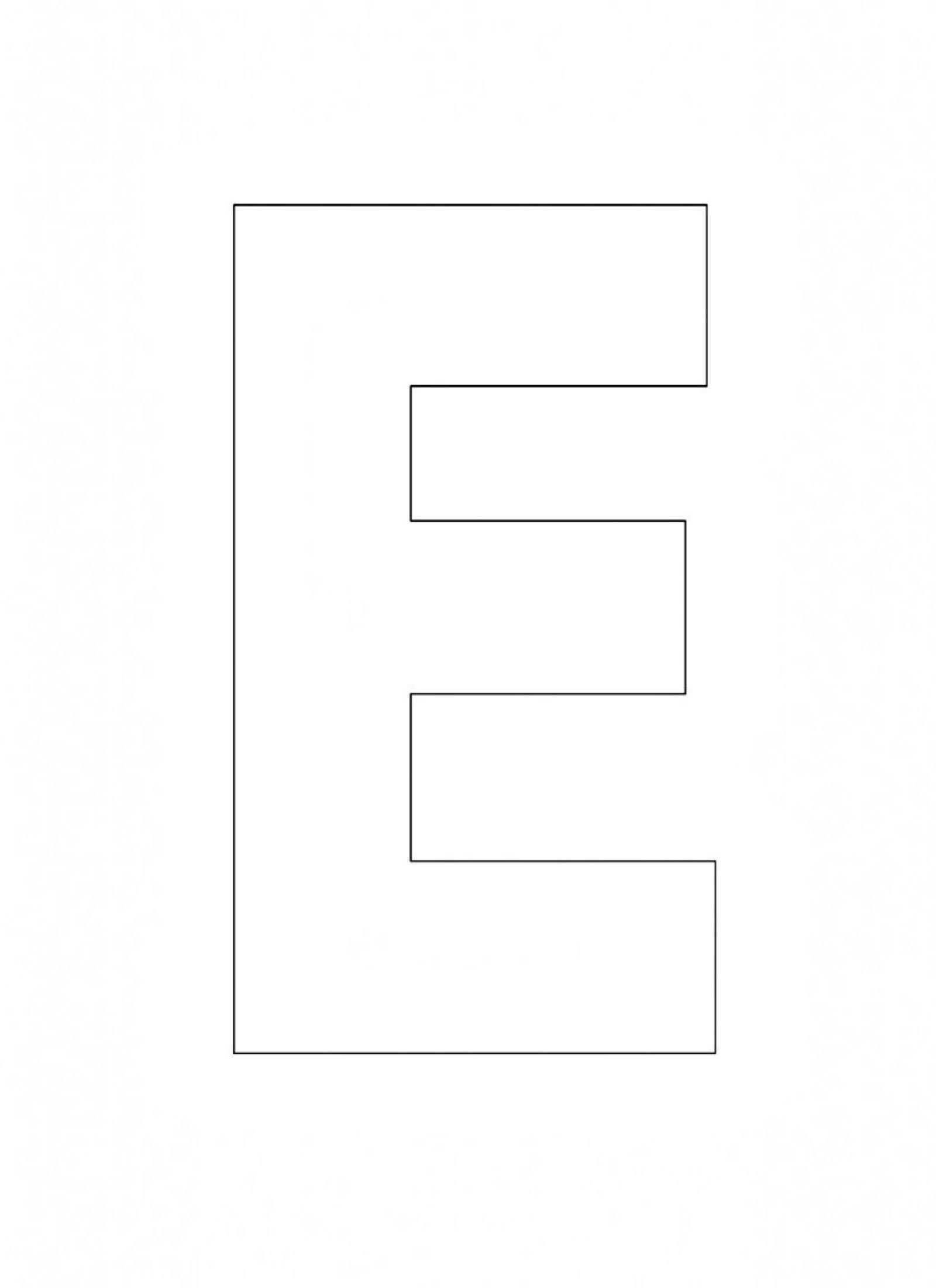 Printable Alphabet Letter E Template Alphabet Letter E  St With Large Letter Templates